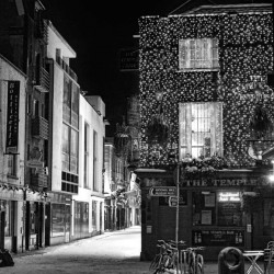 Temple Bar : Dublin Black and White Photograph